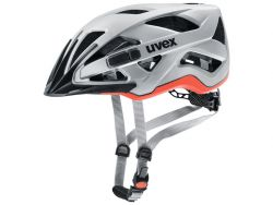 Fahrradhelm UVEX active cc - silver orange matt