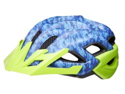 Fahrradhelm KED Status Junior - blue green camouflage