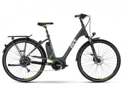 Ebike Husqvarna Gran City GC2 - anthrazit, lime