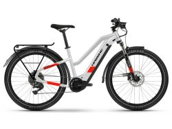 Trekking 7 - cool grey/red matte - 630Wh - Damenrad - Shim. Deore 11-G