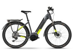 Trekking 6 - cool grey-red - 500Wh - LowStep - Shimano Deore 10-G
