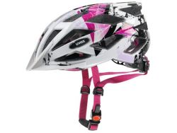 Fahrradhelm UVEX air wing - white pink