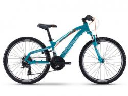 Mountainbike Haibike Seet HardFour 1.0 - Shimano - cyan/weiss/orange - 30cm