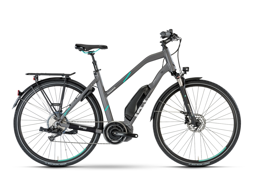 Ebike Husqvarna Light Tourer LT4 , Di2 Damen - anthrazit / petrol
